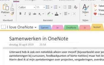 Van 'OneNote' naar 'MuchNote' – over samenwerken in OneNote
